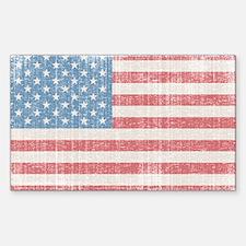 Vintage American Flag Decal