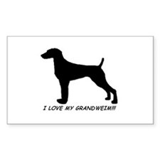 I Love My Grand Weimaraner Rectangle Decal