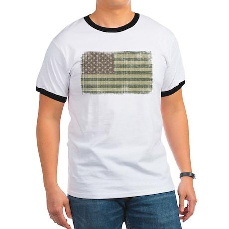 Camo American Flag [Vintage] Ringer T
