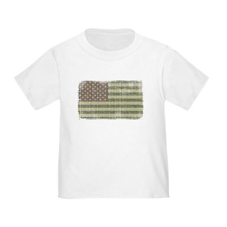 Camo American Flag [Vintage] Toddler T-Shir