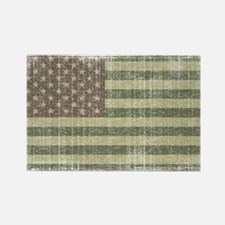 Camo American Flag [Vintage] Rectangle Magnet (10