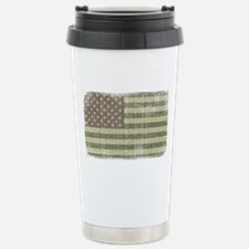 Camo American Flag [Vintage] Stainless Steel Trave