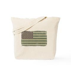 Camo American Flag [Vintage] Tote Bag