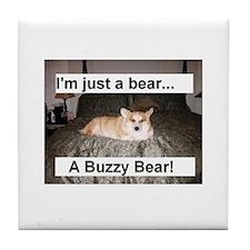The Buzzy Bear Tile Coaster