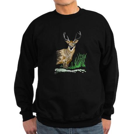 Deer with Antlers Sweatshirt (dark)
