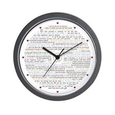All 50 Life Lessons Wall Clock