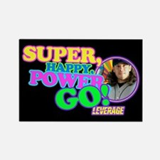Super Happy Power Go Rectangle Magnet