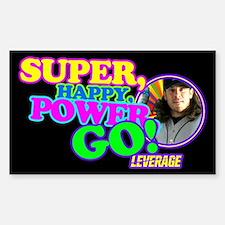 Super Happy Power Go Sticker (Rectangle)