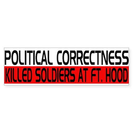 Political Correctness Kills Sticker (Bumper)