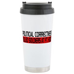 Political Correctness Kills Travel Mug