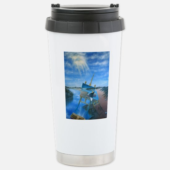 Daylight Disintegration Stainless Steel Travel Mug
