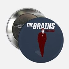 "Leverage Brains 2.25"" Button"
