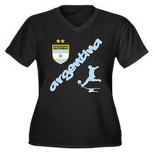 Argentina world cup soccer Women's Plus Size V-Nec