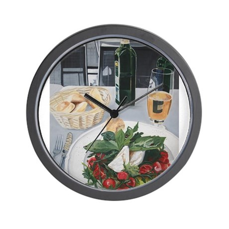 Caprese Lunch Wall Clock