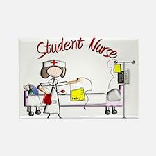 Student Nurse X Rectangle Magnet