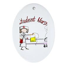Student Nurse X Ornament (Oval)