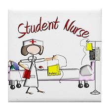 Student Nurse X Tile Coaster