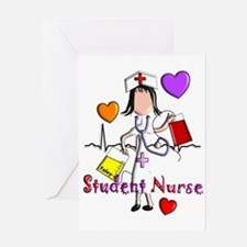 Student Nurse X Greeting Card