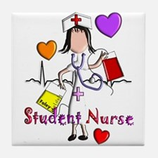 Student Nurse X Tile Coaster