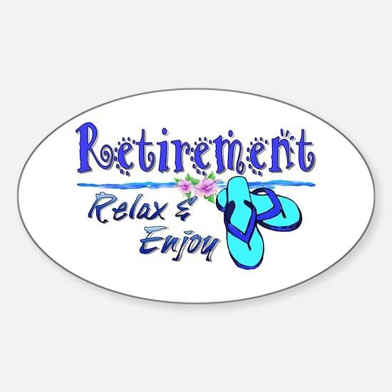 Relax & Enjoy Sticker (Oval)
