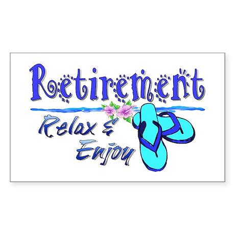 Relax & Enjoy Sticker (Rectangle)
