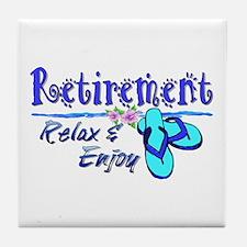 Relax & Enjoy Tile Coaster