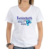 Beach retirement Womens V-Neck T-shirts
