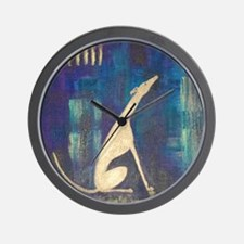 Sitting Greyhound Wall Clock