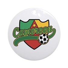Cameroon Soccer Ornament (Round)
