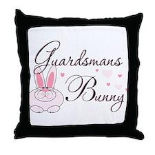 Guardsmans Bunny Throw Pillow