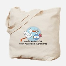 Stork Baby Argentina USA Tote Bag