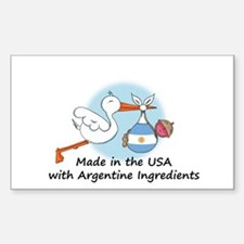 Stork Baby Argentina USA Decal