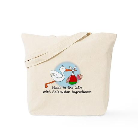 Stork Baby Belarus USA Tote Bag