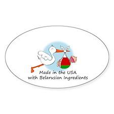 Stork Baby Belarus USA Decal
