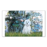 Lilies #1 - Maltese (B) Sticker (Rectangle)
