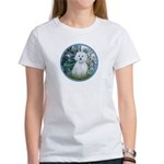 Lilies #1 - Maltese (B) Women's T-Shirt