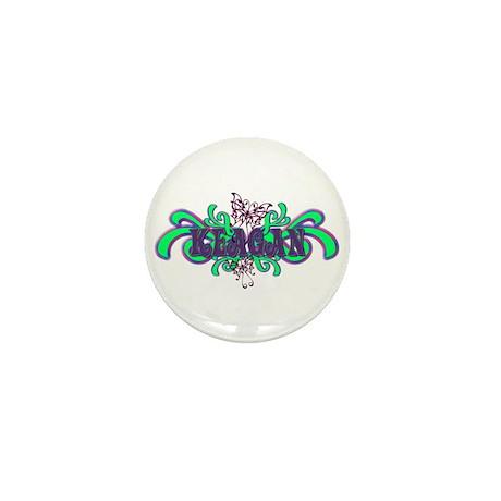 Keagan's Purple-Green Butterf Mini Button