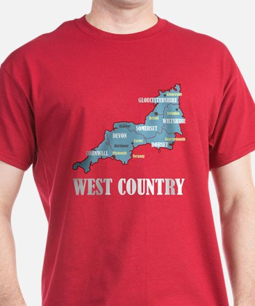 West Country Map T-Shirt