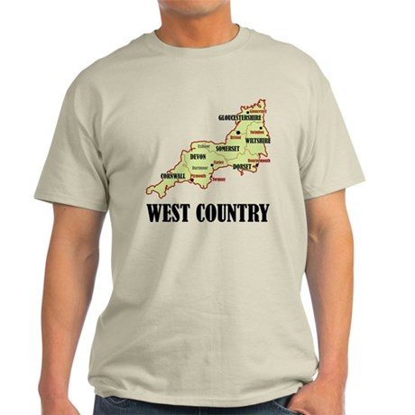 West Country Map Light T-Shirt