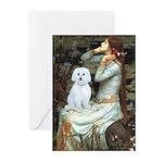 Ophelia (#1) - Maltese (B) Greeting Cards (Pk of 1