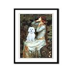 Ophelia (#1) - Maltese (B) Framed Panel Print