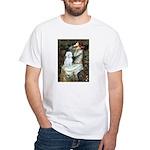 Ophelia (#1) - Maltese (B) White T-Shirt