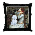 Ophelia (#1) - Maltese (B) Throw Pillow