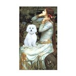 Ophelia (#1) - Maltese (B) Sticker (Rectangle 10 p