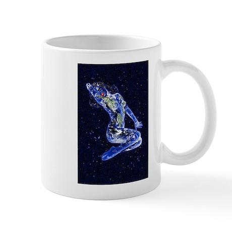 Starry Backhground Earth Ange Mug