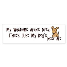 Nose Art Bumper Sticker