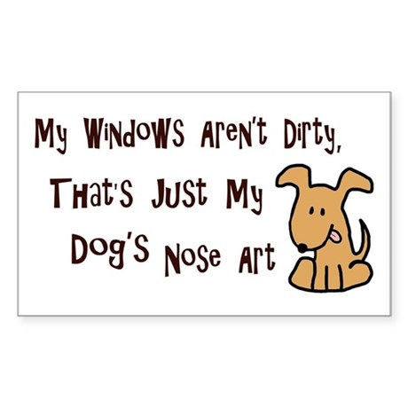 Nose Art Sticker (Rectangle)
