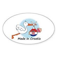 Stork Baby Croatia Decal