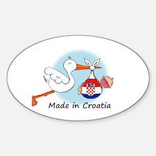 Stork Baby Croatia Sticker (Oval)