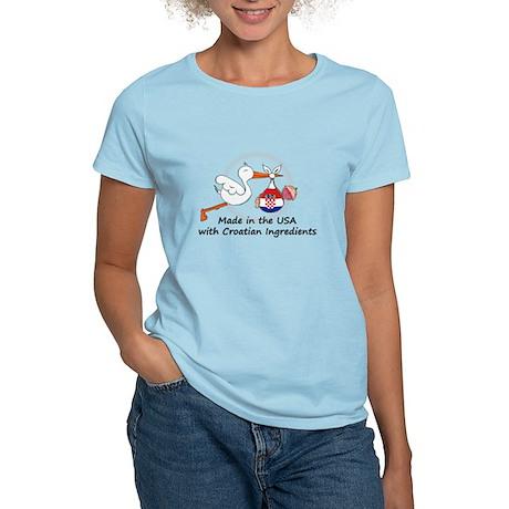 Stork Baby Croatia USA Women's Light T-Shirt